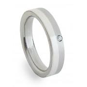 Ocelový prsten se stříbrem ZAG04302
