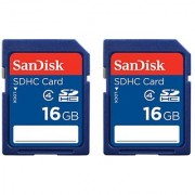 SanDisk 16GB Class 4 SDHC Memory Card 2 Pack (2x16GB) Frustration-Free Packaging- SDSDB2-016G-AFFP (Label May Change)