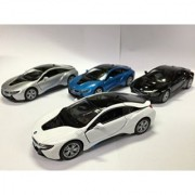 Set of 4: BMW i8 1:36 Scale Super Car
