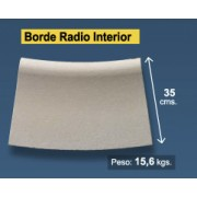 Radio borde piscina Blanco Granallado 35 cm interior
