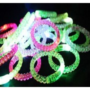 HDYD 12 Pack LED luminous bead bracelet flashing light glow bracelet wristband flash wrist Concert costume ball Party Supplies gift