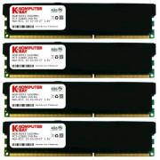 Komputerbay - Modulo di memoria DIMM (16 GB, 4 x 4 GB, 240 pin, 1600 MHz, PC3 - 12800, DDR3, con Heatspreader), Nero 16GB (4x4GB) CL10 Black