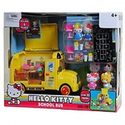 Hello Kitty School Bus Playset Including 6 Figurines