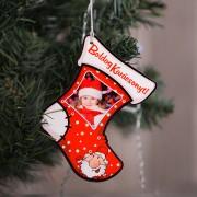 Fényképes karácsonyfadísz, kiscsizma