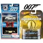 Aston Martin Hot Wheels Retro Entertainment Goldfinger & 007 James Bond Corgi Car Set