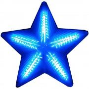 Pisca Pisca Estrela de Natal 20 Leds Azul 50cm 1821 Bi-volt