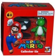 """Mario Super Mario Collector Tin Series 1 Figure-Bullet Bill & Yoshi Aprox 1.5"""""""