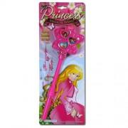 Pink Princess Magical Light & Sound Wand w/ 3 Lights on Blister Card