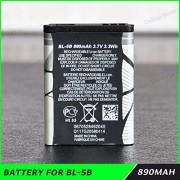 Teflon 3.7V 890mAh Rechargeable Li-ion Battery BL-5B for NOKIA Mobile Phone 3220 3230 5070 5140 5140i 5300 6070 6080 N80 N90 MBT-5836