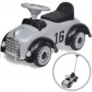 vidaXL Mașină retro de jucărie pentru copii, cu împingere, gri