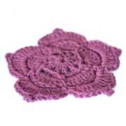 Crochê Porta Copos Formato Flor com 6 Peças