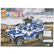 Neska Moda Armed Military Hummer 3D Construction Puzzle Toy for Kids -Creative Attention Building -Easy to Assemble-Min Age-3 Years