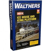 Walthers Cornerstone Series Kit HO Scale Ice House and Icing Platform