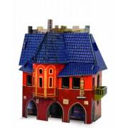 keranova keranova216 10 x 12 x 17 cm Papier Clever médiéval Town Hall Puzzle 3D