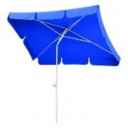Parasol Ibiza - staal/polyester wit/blauw -180x120cm, Schneider Schirme
