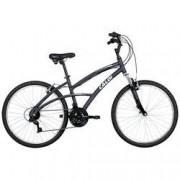 Caloi Bicicleta Caloi 400 - Aro 26 - Freio V-Brake - Câmbio Traseiro Shimano - 21 Marchas - Feminina - CINZA ESCURO