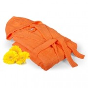 Халат за баня Класик - оранжев