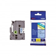 BROTHER TZ Tape, 12mm Black on Blue, Laminated, 8m lenght, for P-Touch (TZE531)