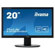 iiyama ProLite E2083HSD-B1 20' LED LCD 1600x900 VGA DVI speakers 250cd/m² 12M:1 ACR 5ms TCO6