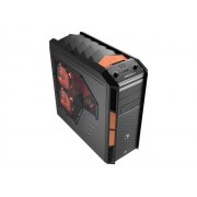 AeroCool PGS B Series XPredator X3 - Evil Black Edition - tour midi - ATX - pas d'alimentation - USB/Audio