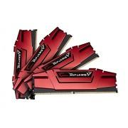 G-Skill - Kit di memoria Ripjaws V Serie F4-3200C14Q-32GVR 32 GB (8 GB x 4) DDR4 3200 MHz CL14, colore: rosso fuoco