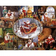 White Mountain Puzzles Merry Christmas to All - 1000 Piece Jigsaw Puzzle