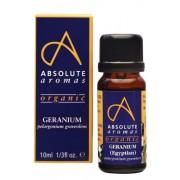 Absolute Aromas Organic Geranium Egyptian Essential Oil