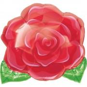 Balon folie figurina trandafir rosu - 45cm, Amscan 1202101