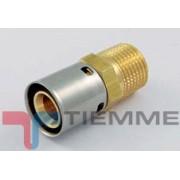 Conector drept presare 16x2-1/2 FE