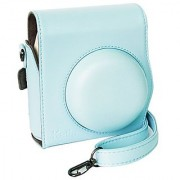 Katia Instant Camera PU Leather Case with Shoulder Strap for Fujifilm Instax Mini 8/ Mini 8+ Instant Camera (Blue)
