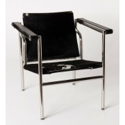 Replica Le Corbusier chair LC1 with Black Pony/Cowhide leather