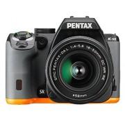 Pentax K-S2+18-50WR Cámara fotográfica digital, color negro y naranja