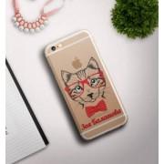 """Именной чехол для iPhone """"Кошка"""" прозрачный"""
