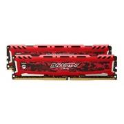 Ballistix Sport LT 8GB Kit (4GBx2) DDR4 2400 MT/s (PC4-19200) DIMM 288-Pin Memory - BLS2C4G4D240FSE (Red)