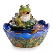 Frog Pond Water Fountain w/ Goldfish