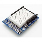 Prototyping Shield with Breadboard for Arduino Uno