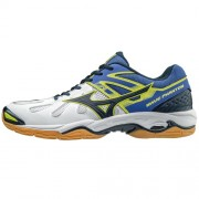 mizuno Herren-Handballschuh WAVE PHANTOM - white/dress blues/dazzling