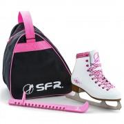 Patine SFR Ice JR White cu accesorii
