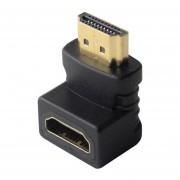 Louiwill HDMI M / M (HDMI Macho A HDMI Hembra) De 90 Grados De ángulo Recto Conector Adaptador Convertidor De HD / TV TFT LCD