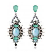 rosegal Faux Crystal Rivets Alloy Geometric Earrings