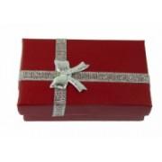 Dárková krabička papírová 5x8cm lesk 9105 Červená 9105