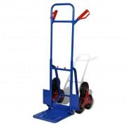 vidaXL Товарна количка за пренасяне на товари по стълби, 200 кг синьо-червена