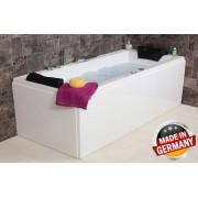 Whirlpool Eck Badewanne Relax Basic günstig mit 14 / 16 Massage Düsen + 7 Grö...