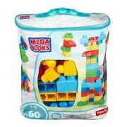 Mega Bloks Dch55 - First Builders Sacca Eco Friendly Maxi Blocchi, 60 Pezzi