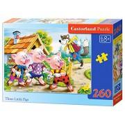 Castorland - Three Little Pigs, Puzzle 260 Pezzi