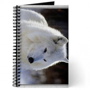 Journal (Diary) with Arctic White Wolf on Cover
