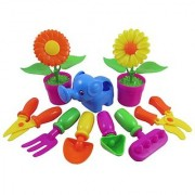 Little Garden Tools 9-Piece Gardening Set for Kids (Assorted Styles)