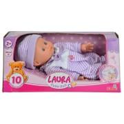 Simba Laura baba csíkos ruhában - lila