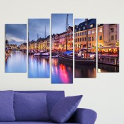 Декоративни панели за стена с нощен изглед от Копенхаген Vivid Home