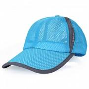Al aire libre hombres y mujeres Sun Shade beisbol red Hat algodon-lago azul